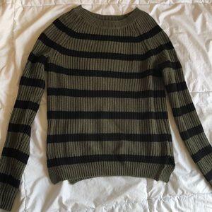 Olive Green & Black Sweater